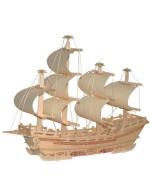 3D Корабль пазл (Дерево)