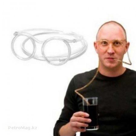 Трубочка-очки для напитков