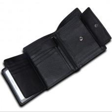 Кожаный кошелек с защитой от RFID
