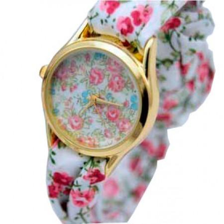 Часы с тканевым ремешком