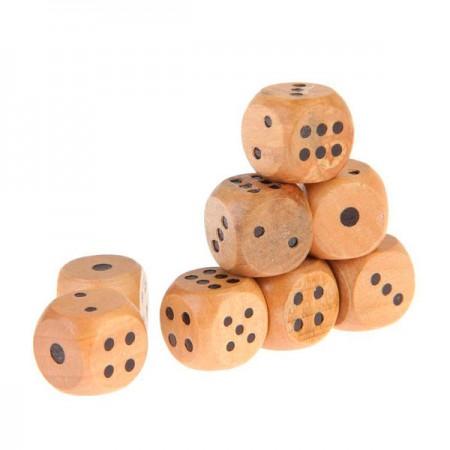 Игральные кубики деревянные